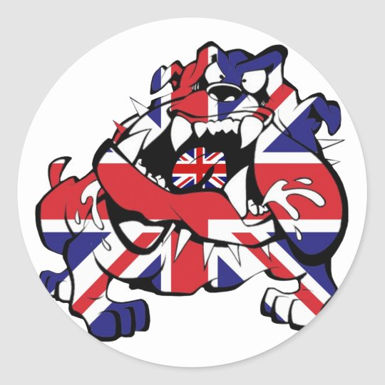 Special British Bulldog Runder Aufkleber