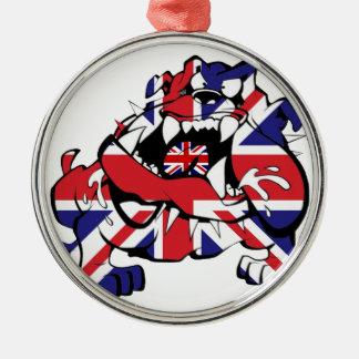 Special British Bulldog Silbernes Ornament