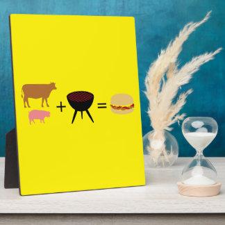Speck-Burger-Rezept Fotoplatte