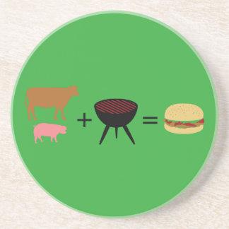 Speck-Burger-Rezept Getränkeuntersetzer