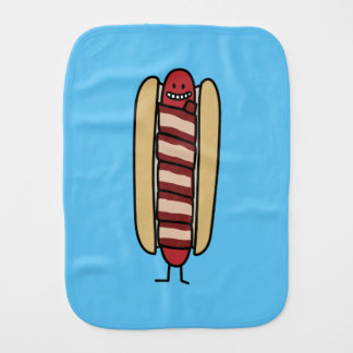 Speck eingewickelte Hotdog-Würstchen-Dackel Baby Spucktuch