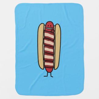 Speck eingewickelte Hotdog-Würstchen-Dackel Babydecke