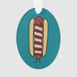 Speck eingewickelte Hotdog-Würstchen-Dackel Ornament