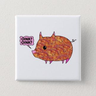 Speck eingewickeltes Piggy Quadratischer Button 5,1 Cm