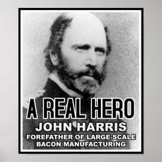 Speck-Held-lustiges Plakat Johns Harris