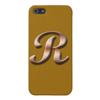 Speck-Kasten des Monogramm-R iPhone 5 Schutzhülle