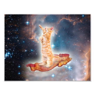 Speck-surfende Katze im Universum Kunstfotos