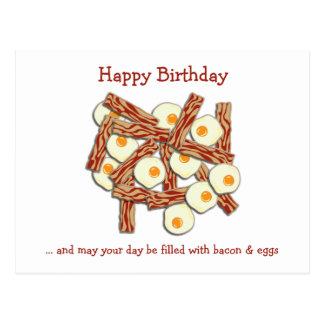 Speck-und Ei-alles Gute zum Geburtstag Postkarten