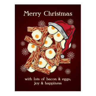 Speck und Ei-frohe Weihnachten Postkarte