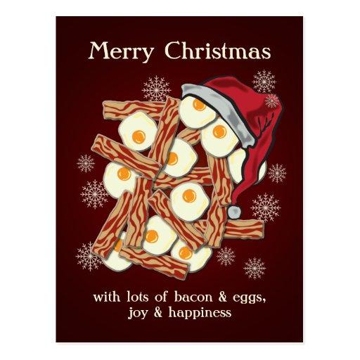 Speck und Ei-frohe Weihnachten Postkarten