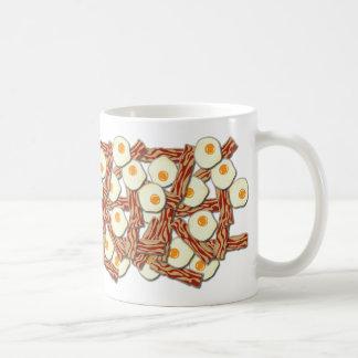 Speck-und Ei-Muster Kaffeetasse