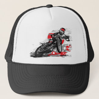 Speedway-flacher Bahn-Motorrad-Rennläufer Truckerkappe
