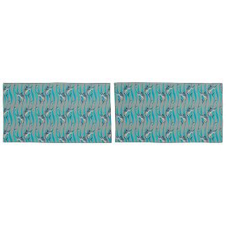 Speerfisch-Muster Kissen Bezug