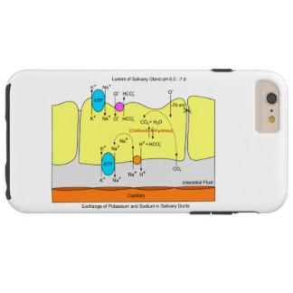Speichel-Drüsen-Absonderungs-Rohr-Diagramm Tough iPhone 6 Plus Hülle