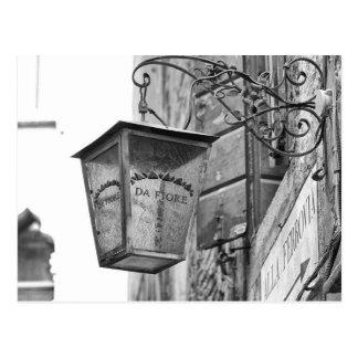 Speichern Sie Lampe, Venedig, Italien Postkarte