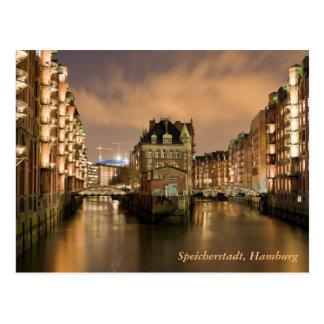 Speicherstadt, Hamburg Postkarte