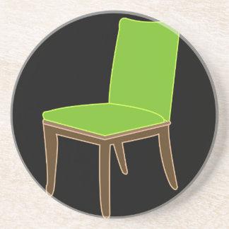 Speisen des Stuhls Sandstein Untersetzer