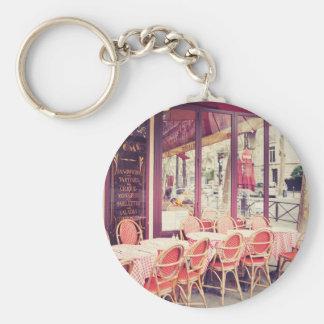 Speisen im Paris-Al-Fresko Schlüsselanhänger