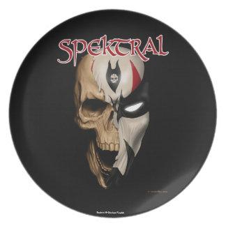 "Spektral ""tote oder lebendige"" Platte Teller"