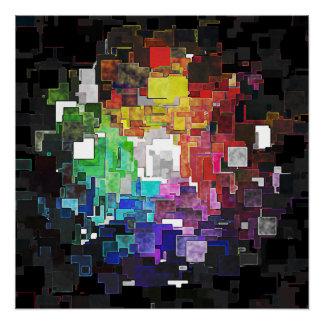 Spektrales geometrisches abstraktes poster