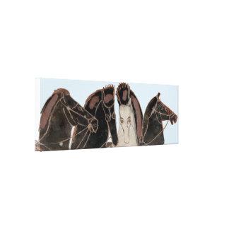 Spektrum - altgriechische Chariotpferde Leinwanddruck