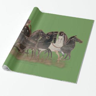 Spektrum - altgriechischer Chariot und Pferde groß Geschenkpapier