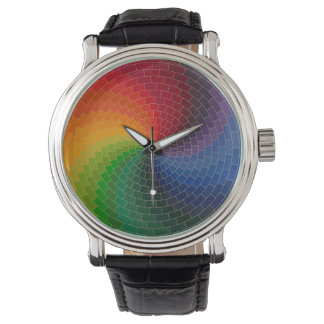 Spektrum-Farbrad Uhr
