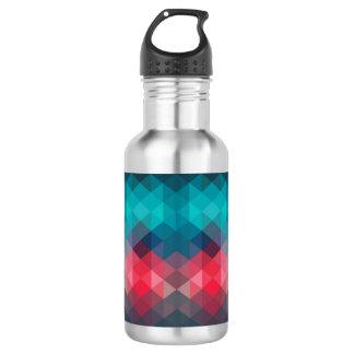 Spektrum-geometrischer Hintergrund Edelstahlflasche