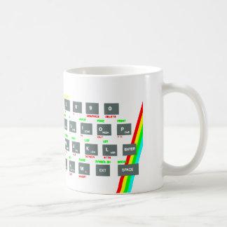 Spektrum-Tasten Sinclairs ZX Kaffeetasse