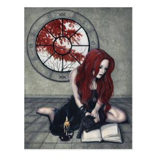 Spellbook Hexe-Postkarte Postkarte
