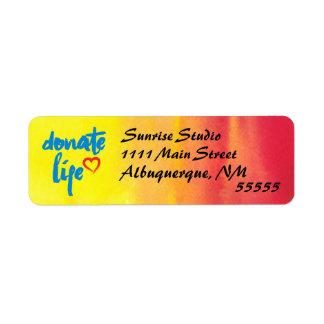 Spenden Sie das Leben mit rotem und gelbem