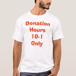 Spenden-Stunden 10-1 nur T-Shirt