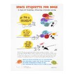 """Sperren Sie Etikette für Hunde - 8,5"""" x 11"""" Flyer"""