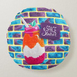 Sperren Sie Savour Frucht-Getränk und einzigartige Rundes Kissen