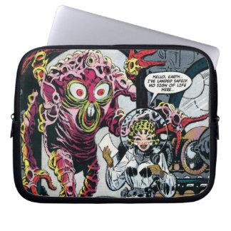 Sperren Sie Sci lustiger 50er der Abenteuer #12 Laptopschutzhülle