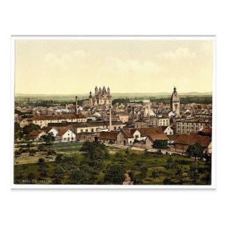 Speyer, allgemeine Ansicht, der Rhein, Deutschland Postkarte
