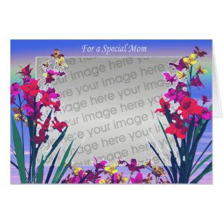 Spezielle Blumen der Mammas Tages(Fotorahmen) Karte