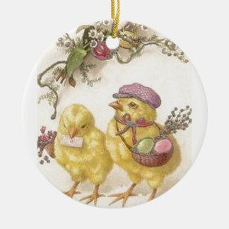 Spezielle Lieferungs-Ostern-Küken Keramik Ornament
