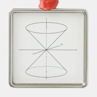 Spezielle Relativitäts-Zeit-Reise-Physik Einstein Silbernes Ornament