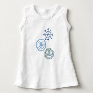 Spezielle Schneeflocke kein Hintergrund-Baby-Kleid Kleid