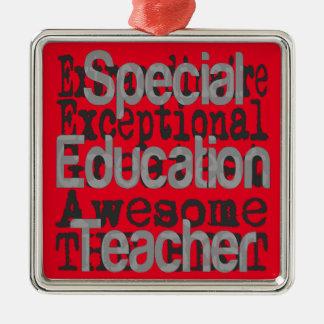 Spezieller Bildungs-Lehrer Extraordinaire Silbernes Ornament