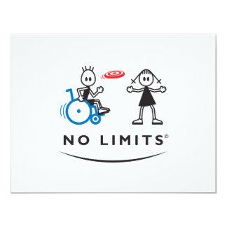 Spezieller Frisbee-Junge 10,8 X 14 Cm Einladungskarte