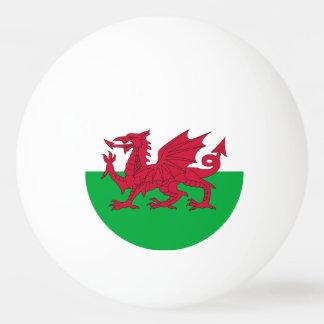 Spezieller Klingeln pong Ball mit Flagge von Wales Tischtennis Ball