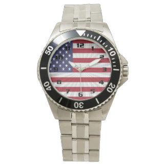 Spezieller moderner Entwurf der sehr patriotischen Armbanduhr