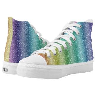 Spezieller Regenbogen-hohe Spitzen Hoch-geschnittene Sneaker