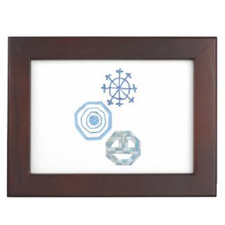 Spezieller Schneeflocke-Andenken-Kasten Erinnerungsdose