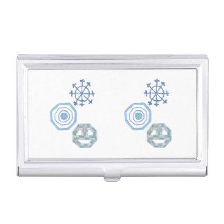 Spezieller Schneeflocke-Visitenkarte-Halter Visitenkarten Etui