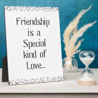 Spezielles Freundschafts-Schwarz-kleine Blasen-Pla Schautafeln