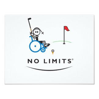 Spezielles Golf-Mädchen 10,8 X 14 Cm Einladungskarte
