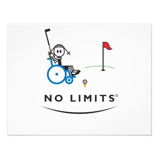 Spezielles Golf-Mädchen Ankündigung